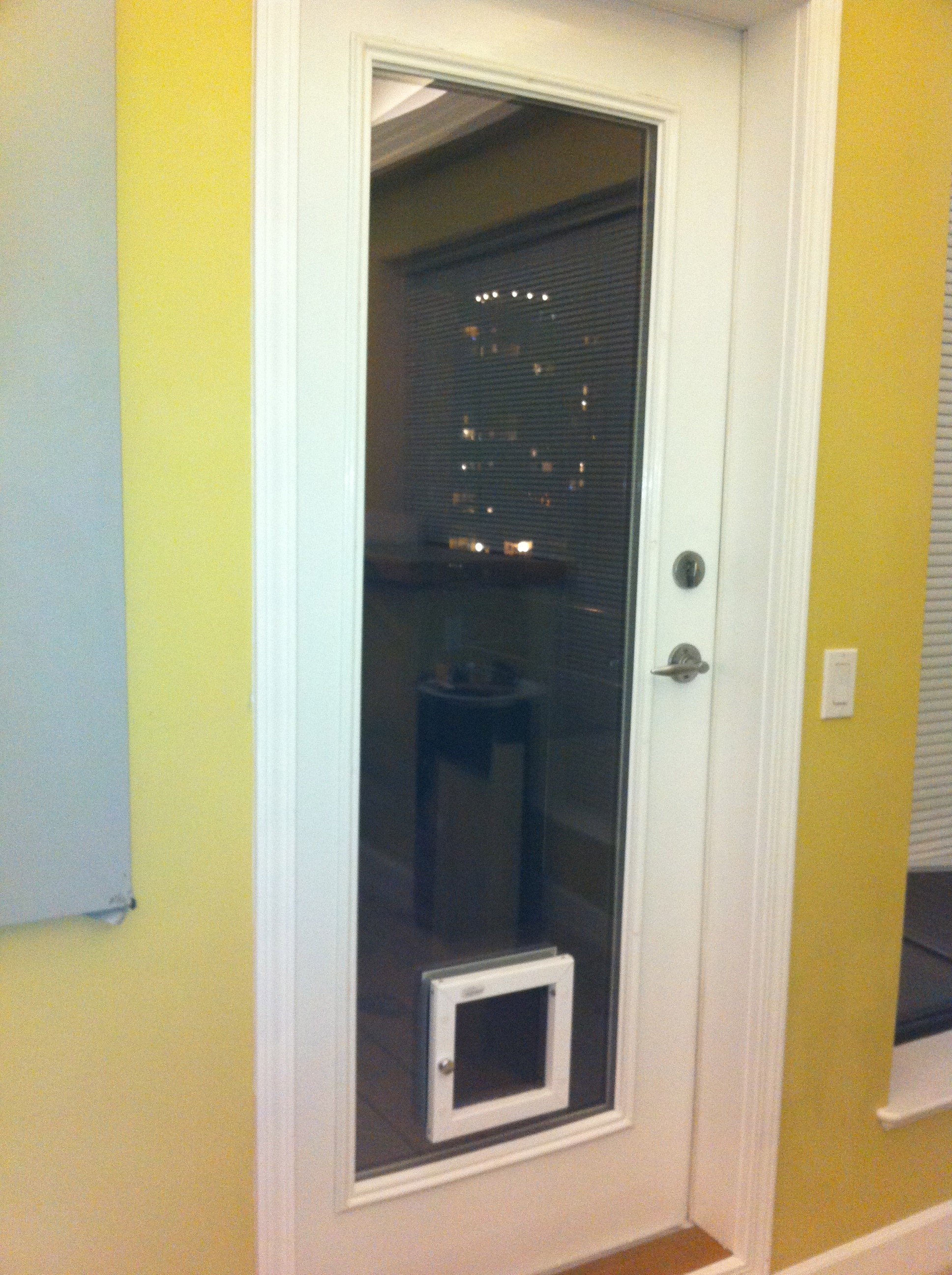Sliding Glass Doors with Doggie Door Built In 1936 x 2592
